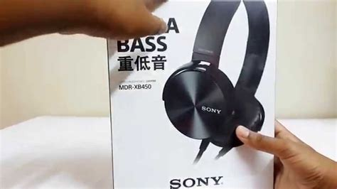 Sony MDR- XB450 Headphones [Unboxing & Review] - YouTube
